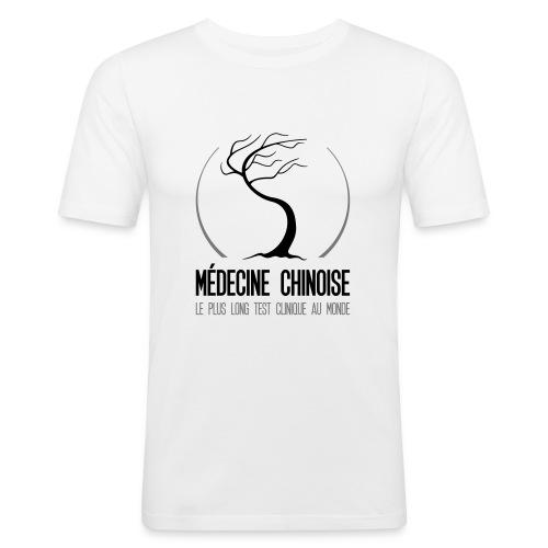 Medecine chinoise test clinique au monde - T-shirt près du corps Homme