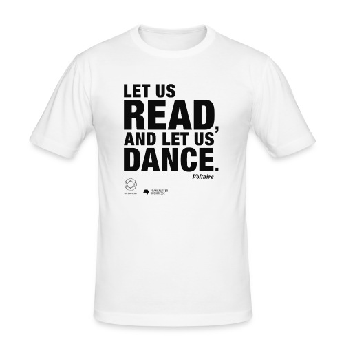 LET US READ | Bookish Merch - Männer Slim Fit T-Shirt