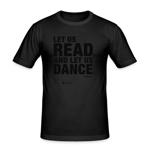 LET US READ | Bookish Merch - Männer Slim Fit T-Shirt