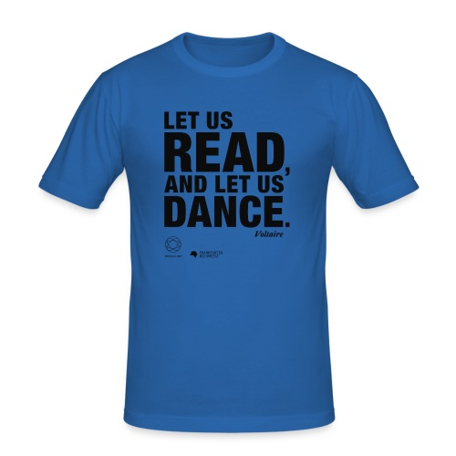 LET US READ   Bookish Merch - Männer Slim Fit T-Shirt