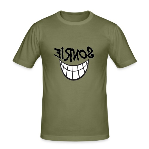 Para el Espejo:Sonrie 01 - Camiseta ajustada hombre