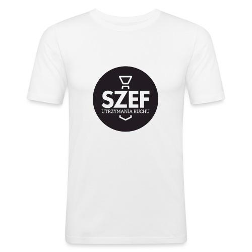 Logo-szef-utrzymania-ruchu_ok_net_black - Obcisła koszulka męska