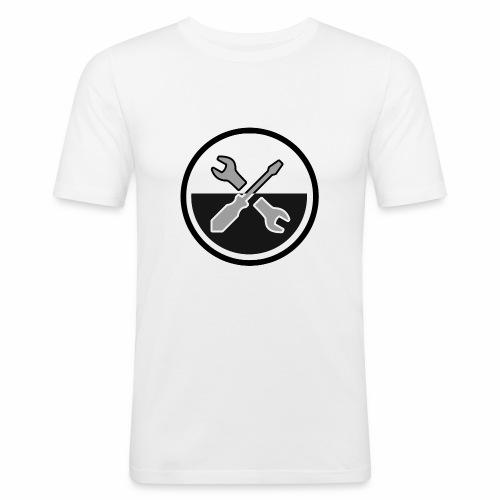 noir & gris - T-shirt près du corps Homme