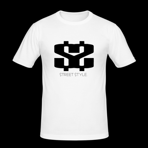 $$ BLACK LOGO - Slim Fit T-shirt herr
