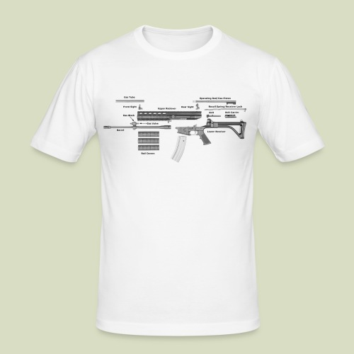 Robinson Armament XCR - Miesten tyköistuva t-paita