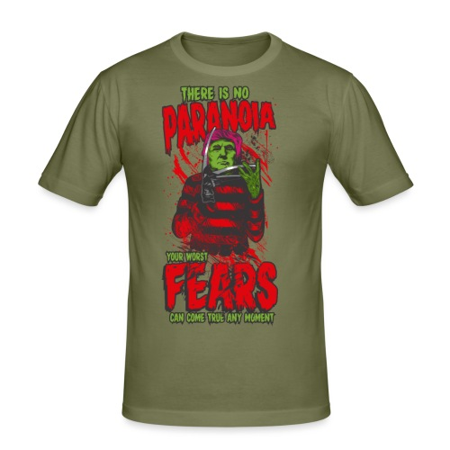 There is no paranoia - Slim Fit T-skjorte for menn