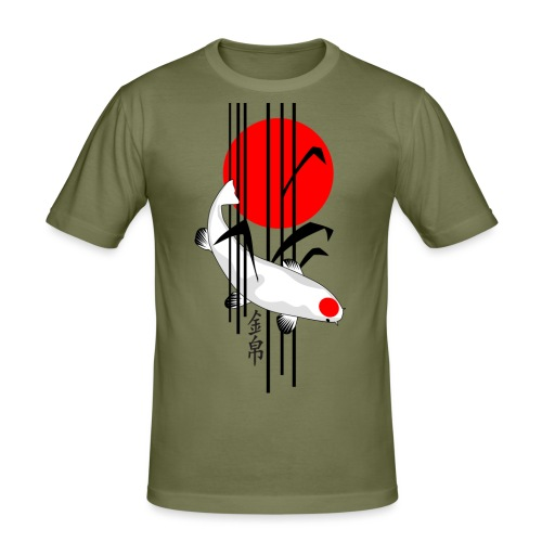 Bamboo Design - Nishikigoi - Koi Fish 5 - Männer Slim Fit T-Shirt