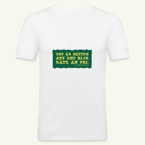 Kenttä citat - Slim Fit T-shirt herr