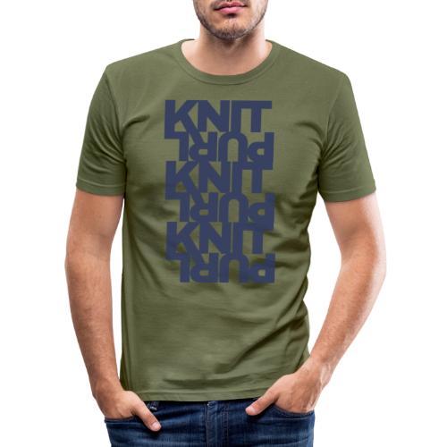 St, dark - Men's Slim Fit T-Shirt