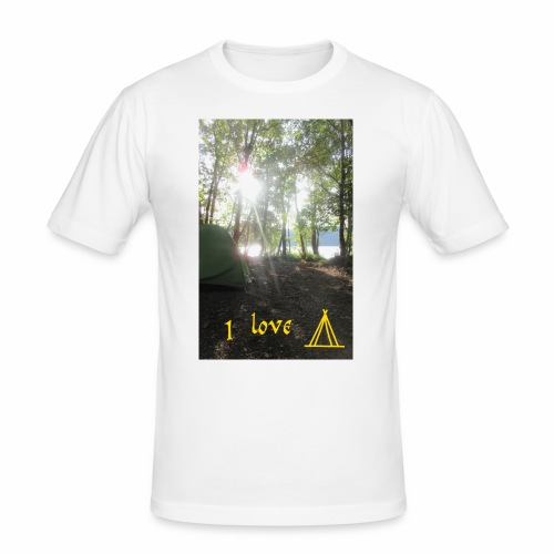 camping - Mannen slim fit T-shirt