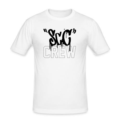 ScC CREW Logo Zwart - Mannen slim fit T-shirt