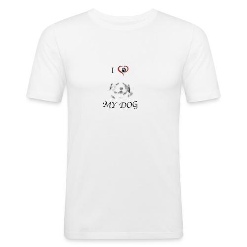 Cane_Po_2-gif - Maglietta aderente da uomo