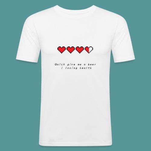 The Legend of Drunk - Mannen slim fit T-shirt