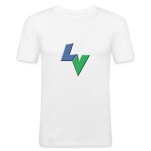 LeoVeo LV Logo - Men's Slim Fit T-Shirt