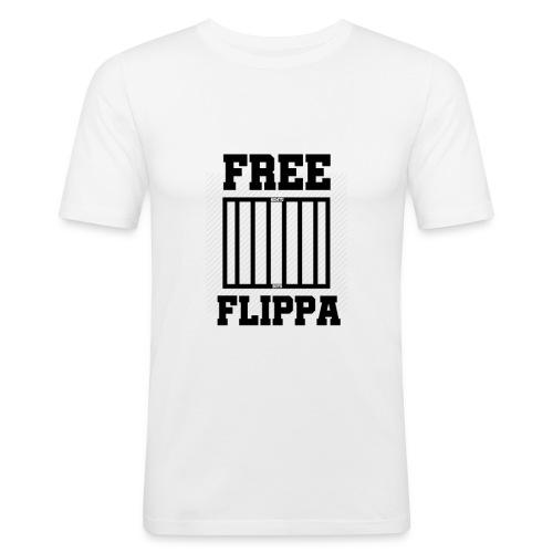 Free Flippa Zwart - Mannen slim fit T-shirt