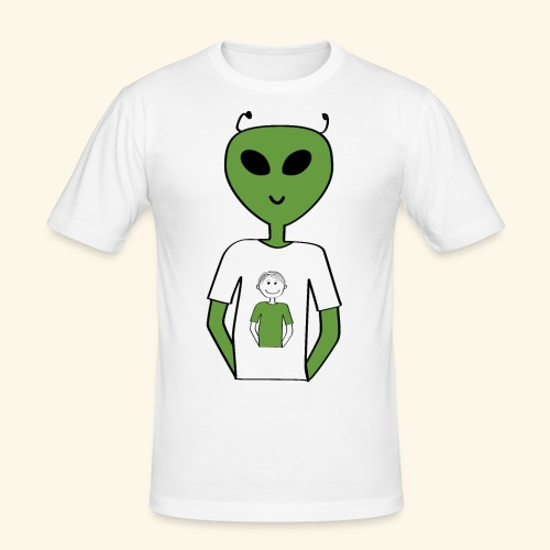 Alien human T shirt - Slim Fit T-shirt herr