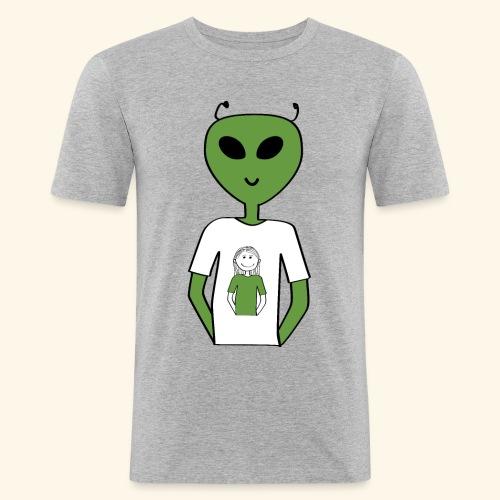 Alien human T-shirt T-shirt - Slim Fit T-shirt herr