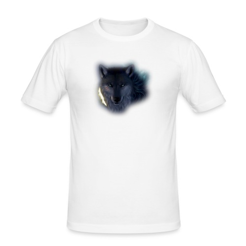 Felpa Wolf - Men's Slim Fit T-Shirt
