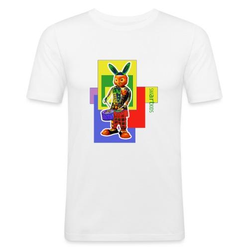 smARTkids - Slammin' Rabbit - Men's Slim Fit T-Shirt