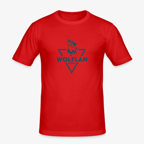 WolfLAN Logo Gray/Blue - Men's Slim Fit T-Shirt