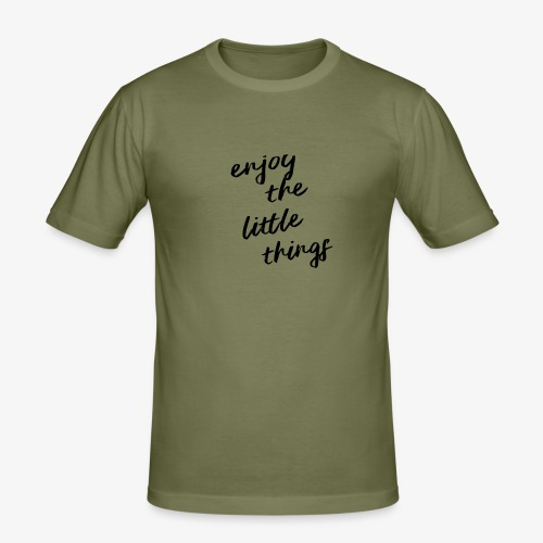 Enjoy The Little Things - Black - Men's Slim Fit T-Shirt