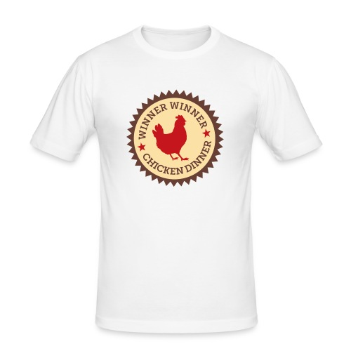 WINNER WINNER CHICKEN DINNER - Men's Slim Fit T-Shirt