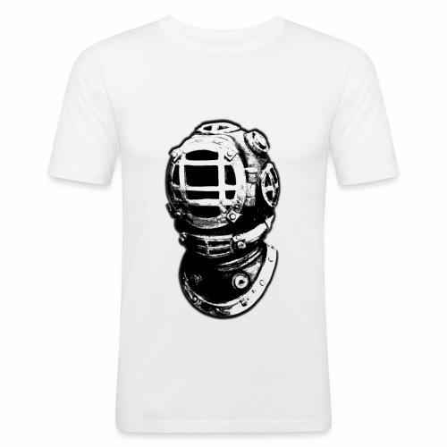 old diving helmet - Men's Slim Fit T-Shirt