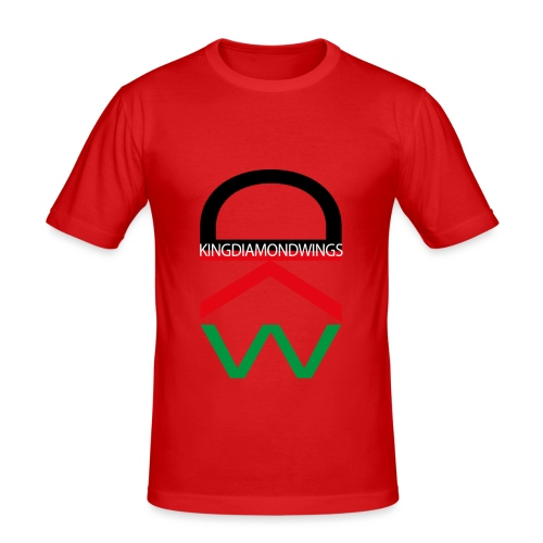 King Diamond Wings Colored Logo - Men's Slim Fit T-Shirt