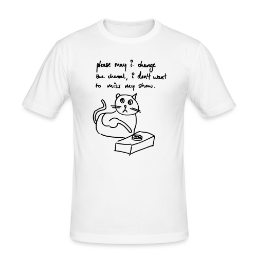 Shit Cat 8 - Men's Slim Fit T-Shirt