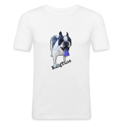 Bulldog francés. BullgTime. Dog Azul Turquis - Camiseta ajustada hombre