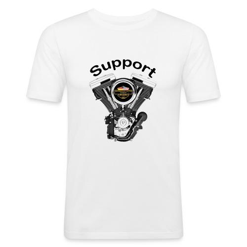 Support Indis bunt evolution engine - Männer Slim Fit T-Shirt