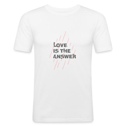 LOVE IS THE ANSWER 2 - Maglietta aderente da uomo