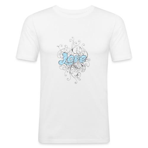 LOVE CON DECORI - Maglietta aderente da uomo