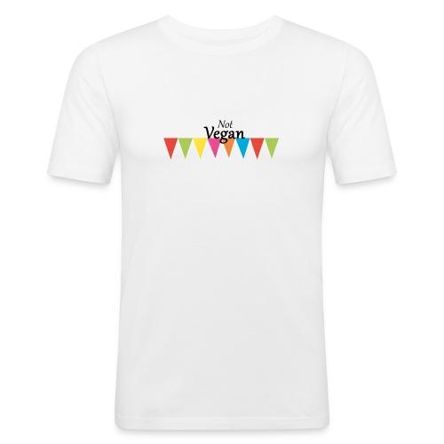 Not Vegan - Men's Slim Fit T-Shirt
