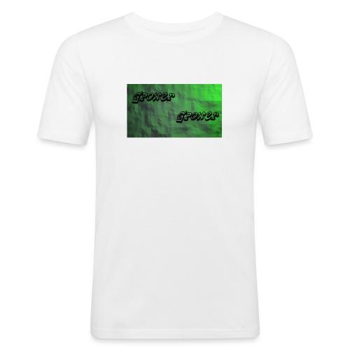 t-shirt met gpower - Mannen slim fit T-shirt