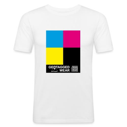 Square CMYK #1 - CMYK Collection - Männer Slim Fit T-Shirt