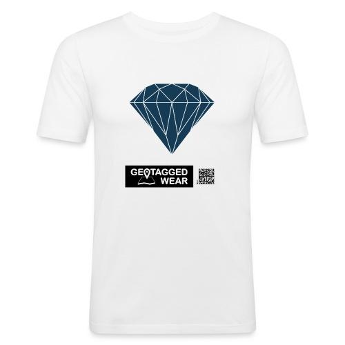 Men Diamond Pantone Sailor Blue - Männer Slim Fit T-Shirt