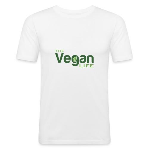 The Vegan Life Logo - Men's Slim Fit T-Shirt