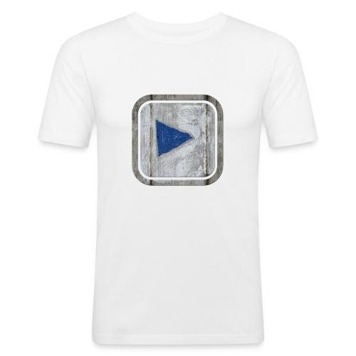 hier entlang ! - Männer Slim Fit T-Shirt