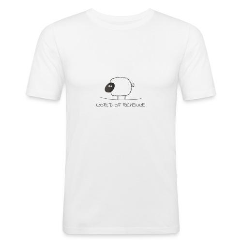 logo_wor_-3- - Mannen slim fit T-shirt