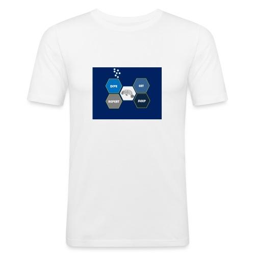 Dive_sleep_repeat_Hexagonal_v1-0_20161118 - Men's Slim Fit T-Shirt