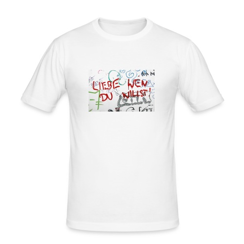 Liebe wen du willst! - Männer Slim Fit T-Shirt