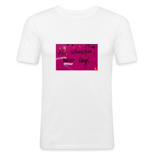 Alle schmeißen, keiner fängt. - Männer Slim Fit T-Shirt