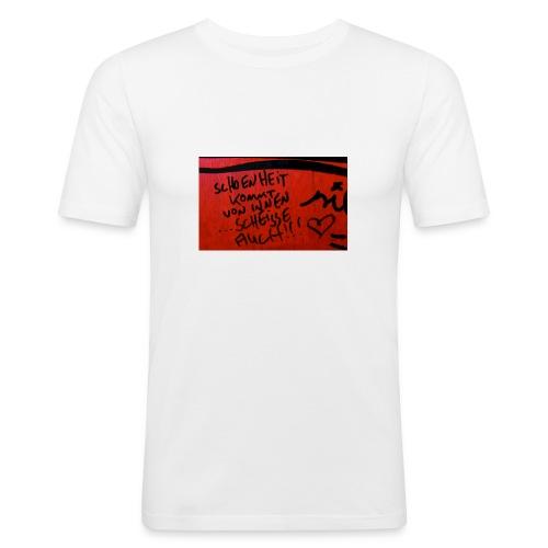 Schönheit - Männer Slim Fit T-Shirt