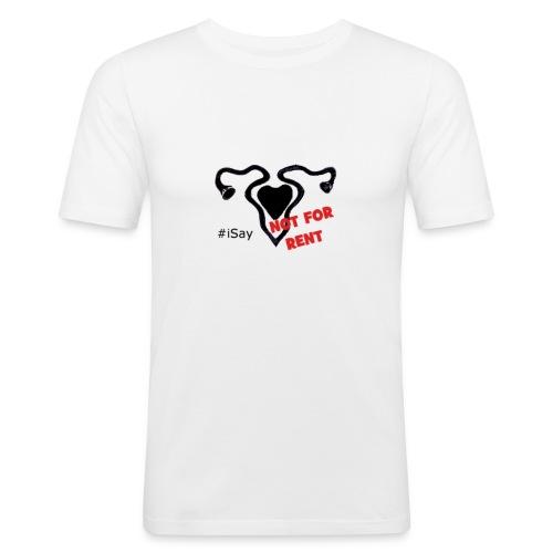 #iSay tshirt-notforrent-png - Maglietta aderente da uomo