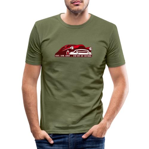 Kustom Car - Fast, Low, Loud ... And Out Of Contro - Männer Slim Fit T-Shirt