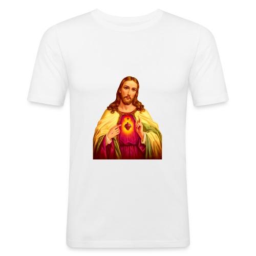 Jesus - Mannen slim fit T-shirt