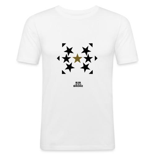 B2B Broke - Hoodie Stars 1 - Männer Slim Fit T-Shirt