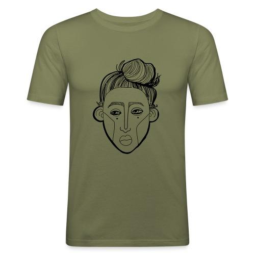 BELLE - Miesten tyköistuva t-paita