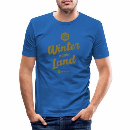Winter Wonder Land - Miesten tyköistuva t-paita
